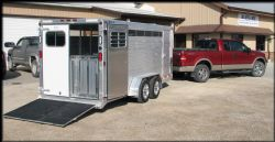 Show pens inside and a tack storage area in the front.