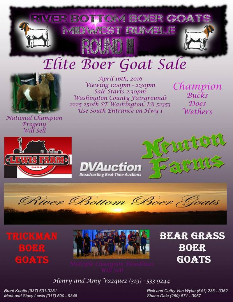 There will be a lot of awesome Boers at this SALE!
